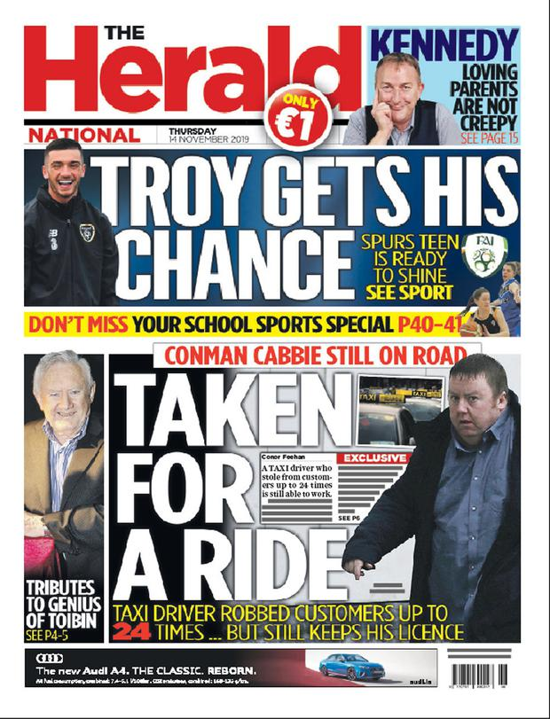 How the Herald revealed his convictions
