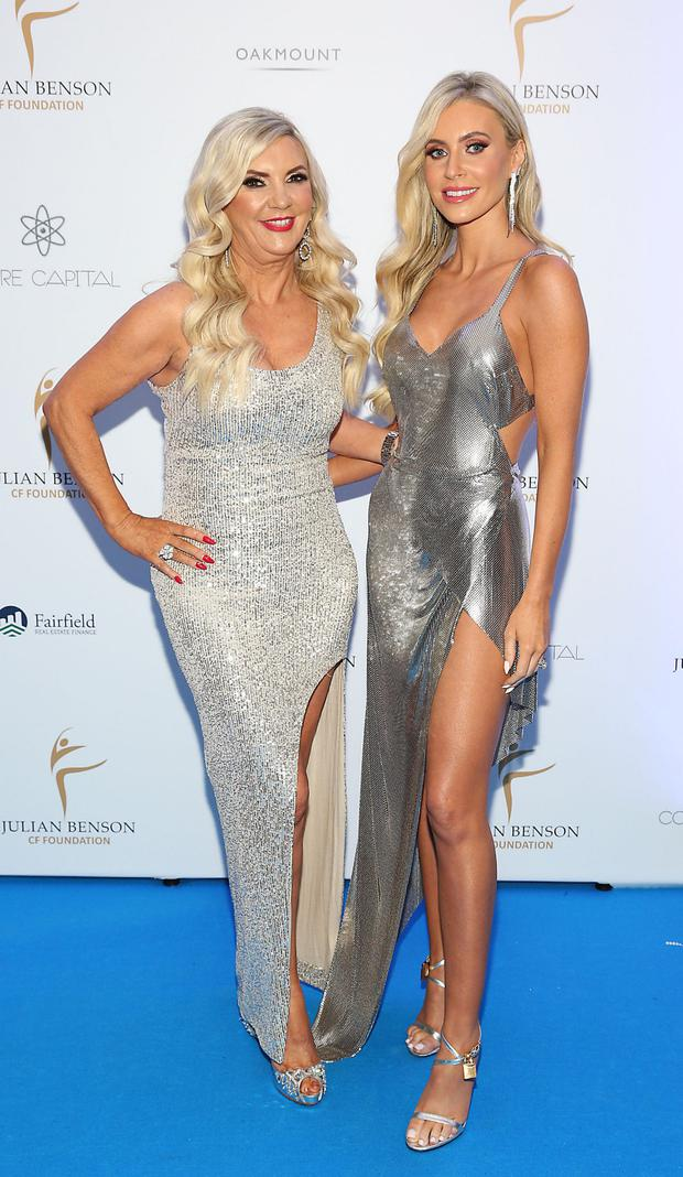 Claudine Keane with her mother Jean Palmer at the Julian Benson CF Winter Ball at the Clayton Hotel