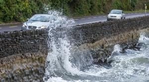 Waves lash the coast in Cork as Storm Atiyah hits