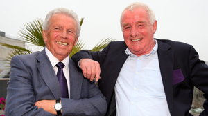 Eamon with former colleague, Leeds United and Ireland star John Giles