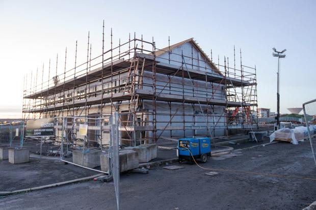 Meanwhile, in Poppintree, the modular homes are starting to take shape (C O'Riordan)