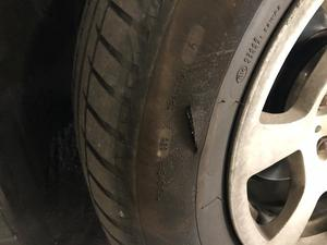Slashed tyres in the car park