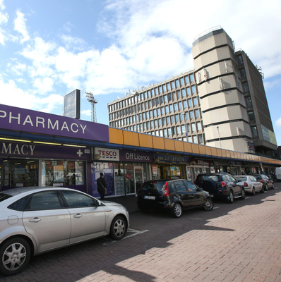 Phibsborough Shopping Centre and the 'ugly' office block