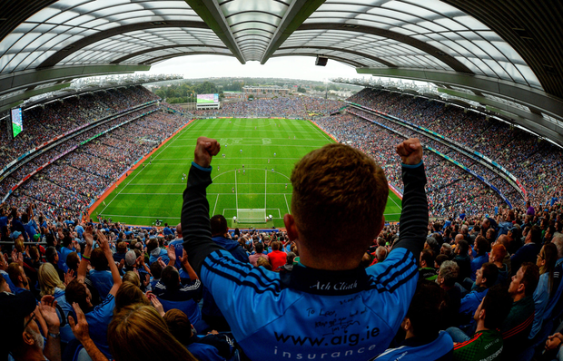 Dubs fans will be cheering on the Boys in Blue at Croker. Photo: SPORTSFILE