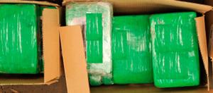 The seized cocaine, believed to be worth around €2.5m
