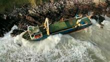 Washed-up cargo ship MV Alta is being monitored for spills