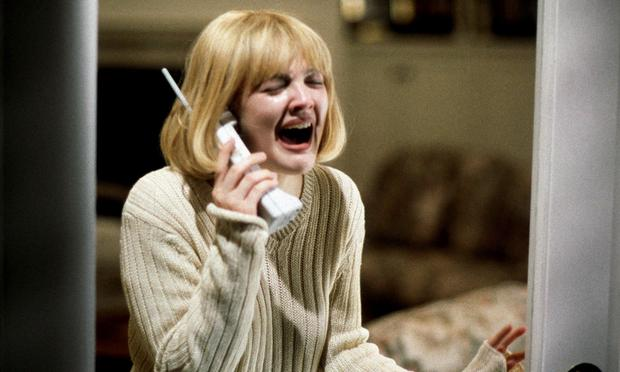 Drew Barrymore in Scream, which topped the poll