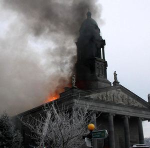 St Mel's when it went up in flames