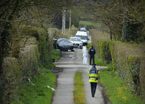 The scene of the crash between a teleporter and car at Rattoo, Ballyduff which killed Anthony O'Mahony