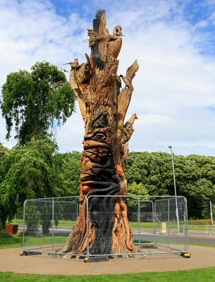 An attempt was made to set fire to The Tree Of Life sculpture