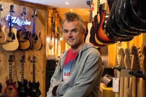 Jimmy Scanlon of Jimi's Music Store, that was broken into last week