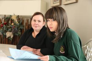 Catherine and Andrea Tse of Camolin, Co Wexford. Andrea is sitting her Leaving cert at FCJ Bunclody Secondary School and has dyslexia