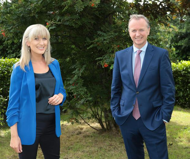 Ciara Doherty, who will replace Ivan Yates on The Tonight Show on Virgin, with her new co-host Matt Cooper