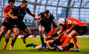 Leinster and Ulster in action at the Aviva stadium