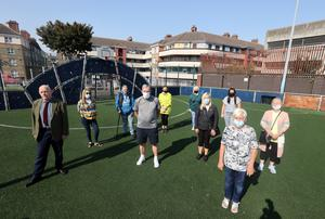 Concerened residents on the astro park after a rave in Oliver Bond flats