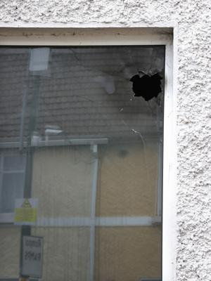 Damage to the front window
