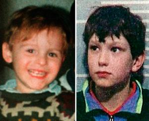 James Bulger (left) was kidnapped, tortured and murdered by Jon Venables (right) and Robert Thompson in 1993