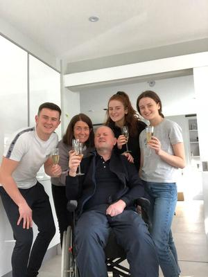 Sean Cox is back home