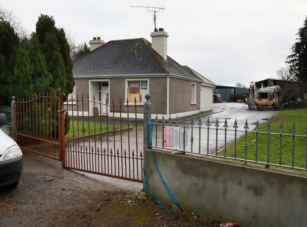The house where the eviction took place