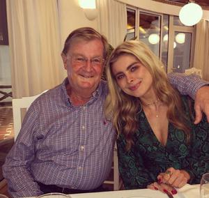 Jess Redden with her late father, Brian
