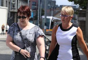 Patricia Frost and her solicitor Cathy McDarby at court yesterday