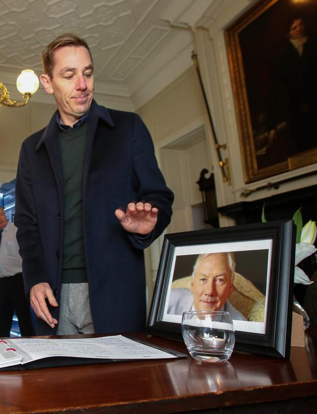 The Late Late Show host Ryan Tubridy has spoken of his sadness at the death of iconic broadcaster Gay Byrne