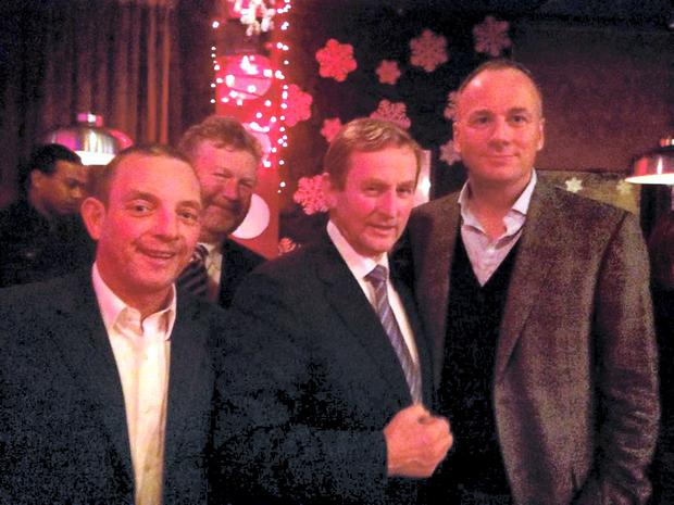 Taoiseach Enda Kenny with Children's Minister Dr James Reilly and TD Jerry Buttimer at Panti Bar