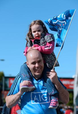 David O'Reilly, from Blanchardstown, with daughter Lexi, 3