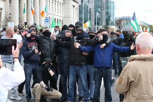 The protest against face masks