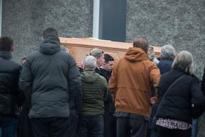 St Joseph's Church was packed for the funeral of Noel Whelan
