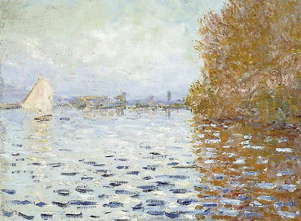 Monet's €10m Argenteuil Basin With A Single Sailboat. Photo: PA