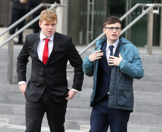 Jason Costello (left) and Cianan Simpson (right) pleaded guilty to possession of cannabis