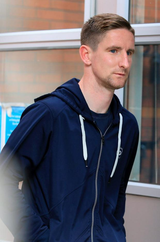 Ian Bermingham leaving the Four Courts yesterday