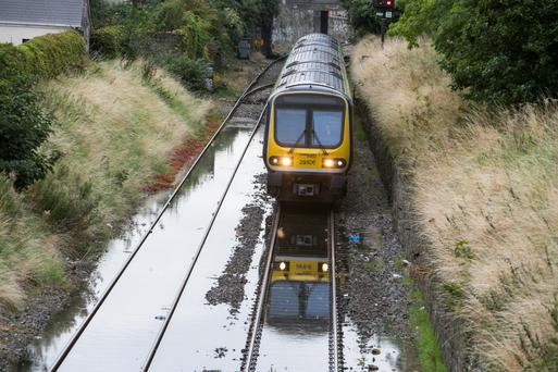 Irish Rail said two hours delays should be expected