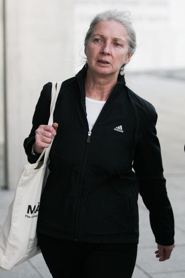 Ex-Anglo Irish Bank official Aoife Maguire leaving court