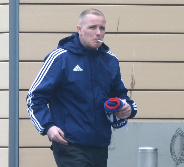 Darryl Cullen of Old Church Avenue, Clondalkin, charged with possession of drugs pictured at Blanchardstown court