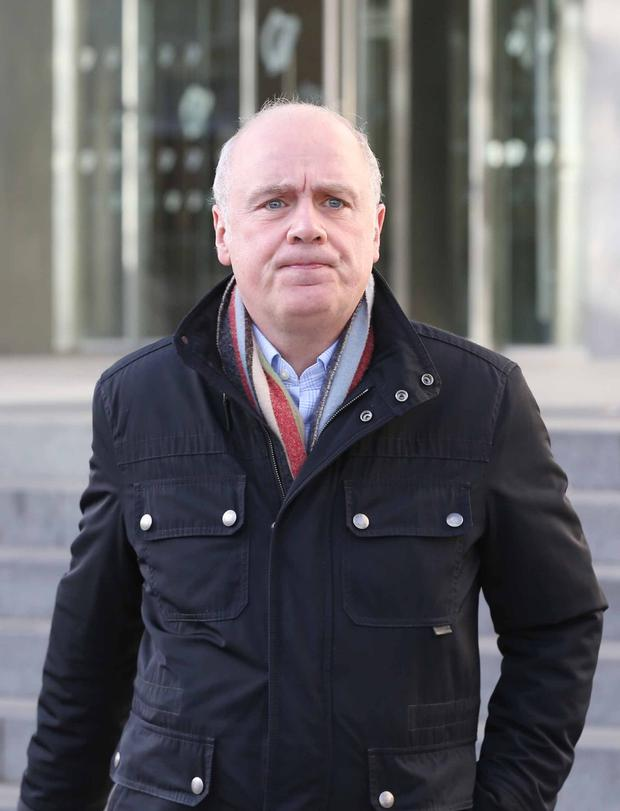 Former Anglo Irish Bank chief executive David Drumm leaves Dublin Circuit Criminal Court