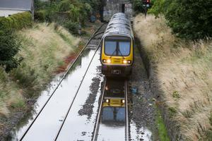 Trains were disrupted