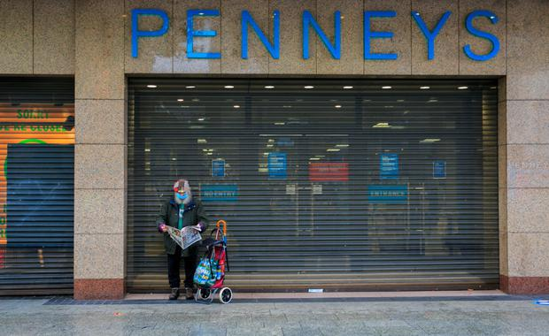 A man outside Penney's in Dublin city centre. Photo: Gareth Chaney/Collins