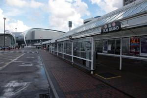 A taxi rank at the airport