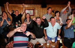 Fans cheer him on at Esker Hills Golf Club in Offaly