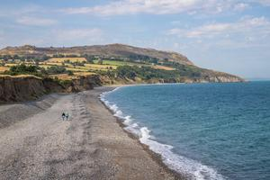A swimmer was reported in difficulty off Greystones