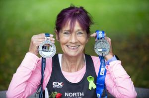 Collette O'Hagan has already completed 728 marathons