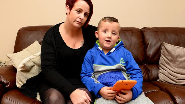 Denise with Jake (5) who is one of only three people in Ireland with Bannayan-Riley-Ruvalcaba syndrome
