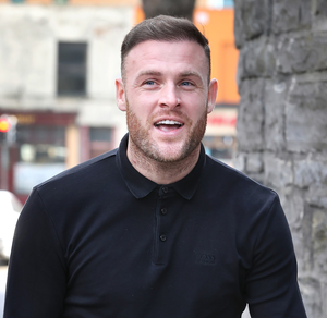 Soccer player Anthony Stokes outside court yesterday