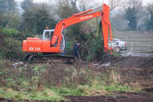 Gardai at the site on The Swords Road, Malahide where a Scull was found.