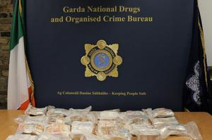 Some of the cash seized by gardaí
