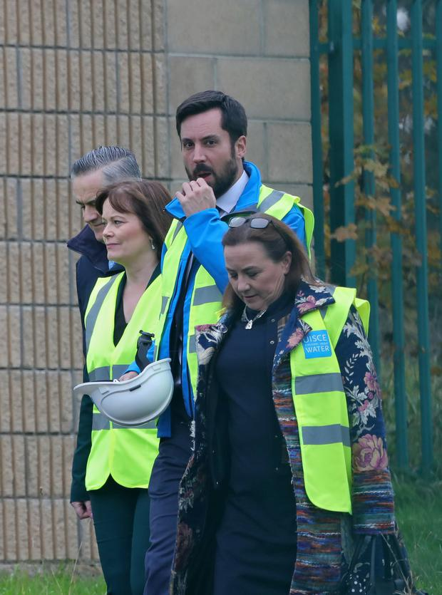 Housing Minister Eoghan Murphy at Leixlip Water Treatment Plant, where he was visiting after a second boil water notice in two weeks was issued to around 600,000 people