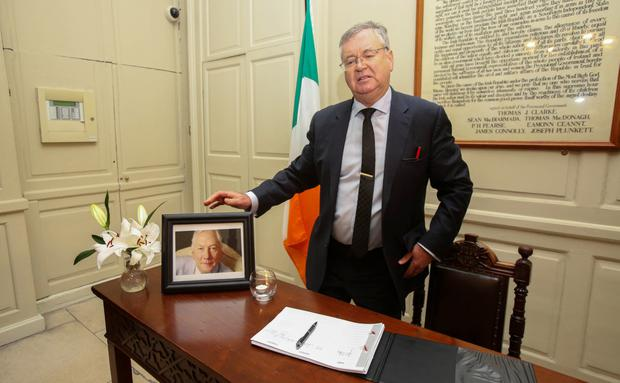 Joe Duffy at the Mansion House yesterday. Photo: Gareth Chaney/Collins