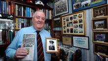 Former Garda and International referee Paddy Daly with his referee career memorabilia. Picture: Caroline Quinn